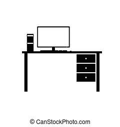 vector, computersysteem, desktop