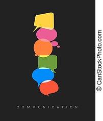 vector, comunicación, concepto abstracto, ilustración