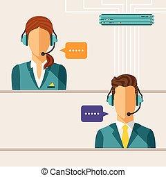vector, concept, calldesk