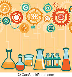 Vector concept - chemistry and science research - design...