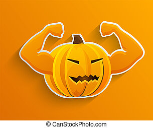 Vector concept halloween background. Eps10