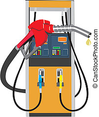 vector concept illustration of fuel pump on white