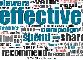 vector, concept, metafoor, effectief, zakelijk, conceptual., of