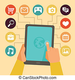 Vector concept - mobile app development infographics in flat...