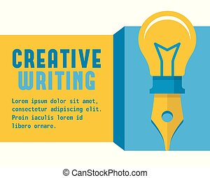 Vector concept of creative writing