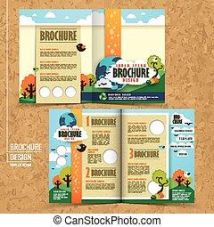 vector concept of environmental brochure design