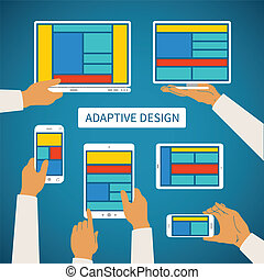 Vector concept of modern adaptive responsive web and...