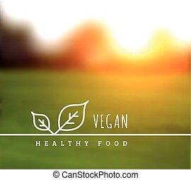 Vector concept of natural vegetarian health food