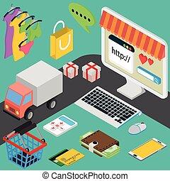 Vector concept of online shop in flat design