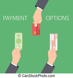 Vector concept of payment options in flat style -...