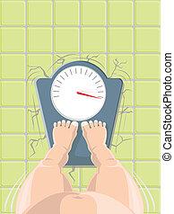 vector, concept, overgewicht