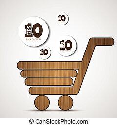 Vector concept shopping background. Eps 10