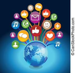 vector concept - social media