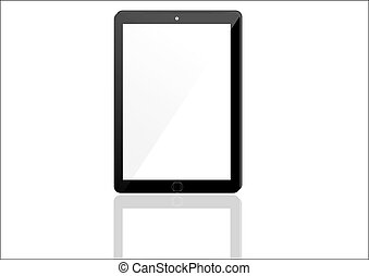 Vector Concept tablet. No transparency effects. EPS8 Only.