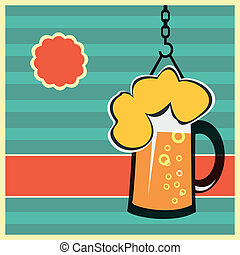 Vector concept with mug of beer eps