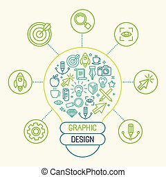 vector, concepto, diseño gráfico