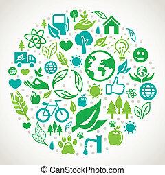 vector, concepto, ecología