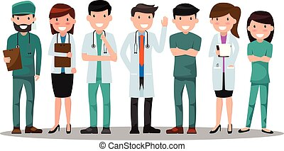 vector, concepto, illustration., doctor, presentation., ...