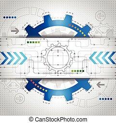 vector, concepto, resumen, plano de fondo, futuro, tecnología