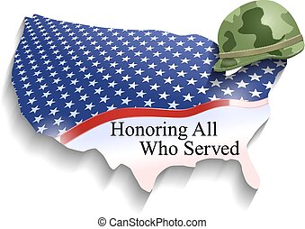 Vector Conceptual Veterans Day Illustration, Eps10 Vector, Transparency and Gradient Mesh Used