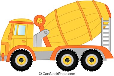 Vector Concrete Mixer. Vector Cement Mixer.