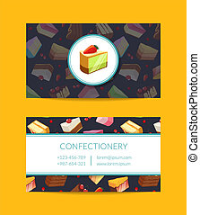 Vector confectionary, cooking or pastry shop - Vector...