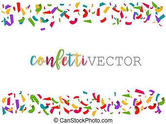 Vector Confetti. Colorful celebration frame background.