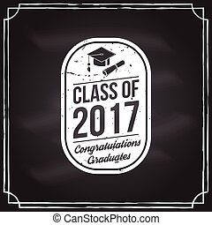 Vector Congratulations graduates Class of 2017 badge....