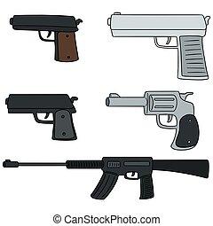vector, conjunto, arma de fuego