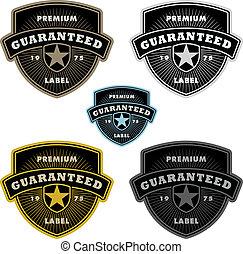vector, conjunto, insignia, protector, clipart