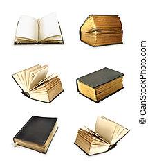 vector, conjunto, libro