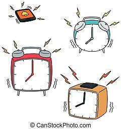 vector, conjunto, reloj