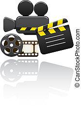 vector, conjunto, vídeo
