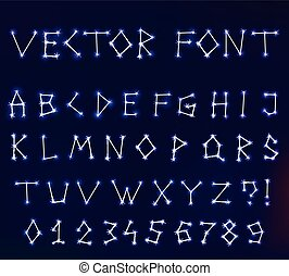 vector constellation font in space - Vector constellation...