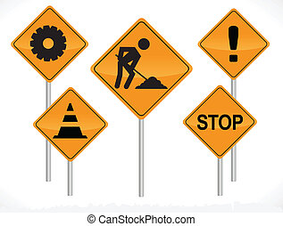 Vector Construction Signs