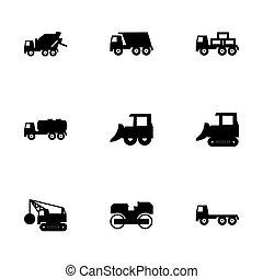 Vector construction transport icon set