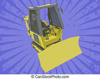 Vector construction truck