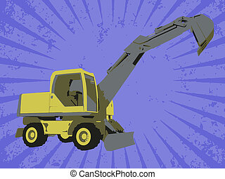 Vector construction truck
