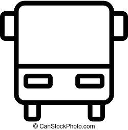vector., contorno, símbolo, ilustração, ícone, autocarro, isolado