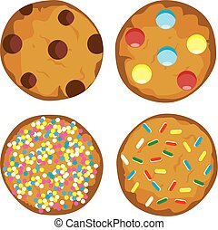 vector cookies set