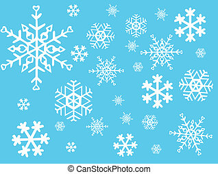 vector, -, copo de nieve