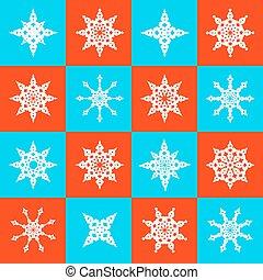vector, Copos de nieve,  seamless, estrellas, papel,  Retro,  origami