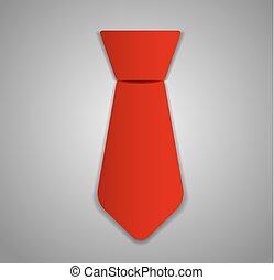 vector, corbata, ilustración