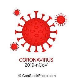 vector, coronavirus., señal, outbreak., peligro, precaución...