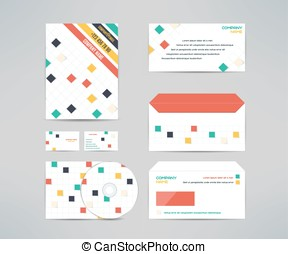 Corporate identity or gift set christmas design print templates vector corporate identity business kit with cd dvd cover business card envelope and letter reheart Gallery