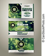 Vector Corporate identity templates with blurred abstract...