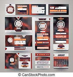 Vector Corporate identity templates