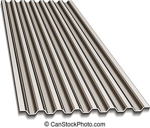 vector corrugated roofing sheet
