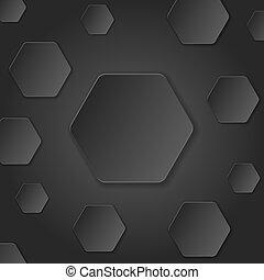 vector, corte, ilustración, fondo., neutral, papel