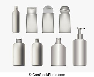 Vector cosmetics containers , packa